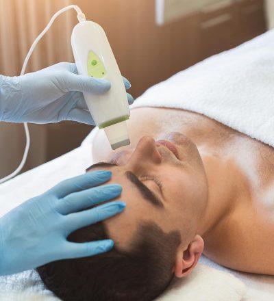 Man Getting Facial Treatment